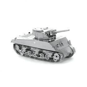 Метален 3D пъзел Metal Earth - Американски танк Sherman