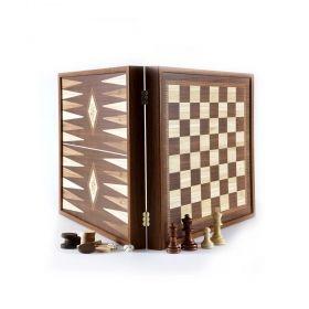 Комплект шах, табла и дама Manopoulos - Classic, 27x27 см
