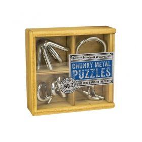 Комплект от 4 бр. метални 3D пъзели Professor Puzzle