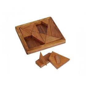 Дървен 3D пъзел Professor Puzzle - Танграмът на Архимед