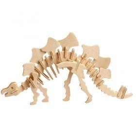 Дървен 3D пъзел Professor Puzzle, Стегозавър