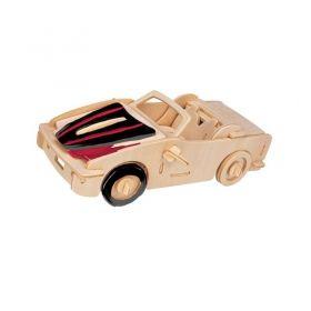 Дървен 3D пъзел Professor Puzzle - Спортна кола с боички