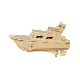 Дървен 3D пъзел Professor Puzzle - Кораб с боички