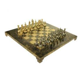 Луксозен ръчно изработен шах Manopoulos - махагон 20x20 см