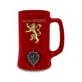 Халба SD Toys - Game of Thrones - House Lannister, стъклена, въртящо се лого