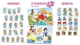 Пъзел и игри 4 в 1 Educa - Дисни принцеси