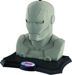 3D пъзел Educa - Iron Man, 160 части, с бои и четка