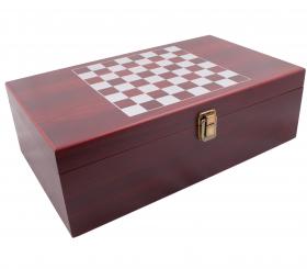 Комплект за вино с шах, 37x21x11 см, място за бутилки