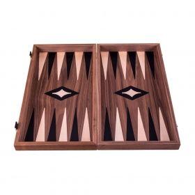 Комплект шах и табла Manopoulos - Орех, 52x48 см