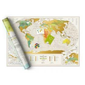 Географска Скреч Карта на Света  1
