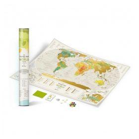 Географска Скреч Карта на Света  3