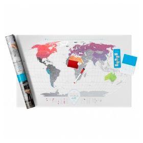 Географска Скреч Карта Air Travel Map 1