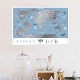 Географска Скреч Карта World Travel Weekend 4