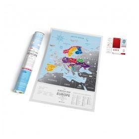 Географска Скреч Карта на Европа Silver 1