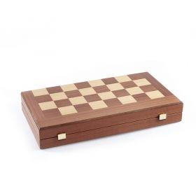 Дървена табла 48 х 50 см., махагон с червени кантове