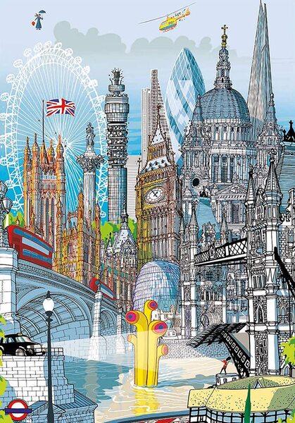 Шестизмерен пъзел Educa от 200 части - Лондон