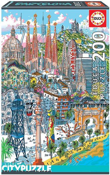 Шестизмерен пъзел Educa от 200 части - Барселона