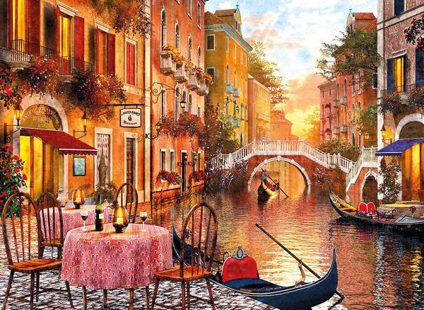 Пъзел Clementoni от 1500 части - Венеция, Доминик Дейвисън