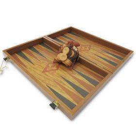 Табла за игра Manopoulos - Орех и маслиново дърво, 50x48 см