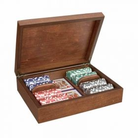 Дървена кутия Radica с 200 покер чипа