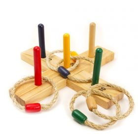 Игра с рингове House of Marbles - Wooden Quoits, дървена