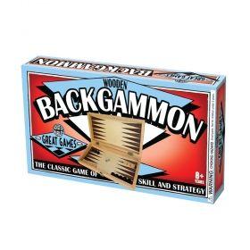 Дървена табла House of Marbles - Blackgammon, 31x31 см