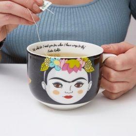 Чаша Kikkerland - Frida Kahlo, бяла