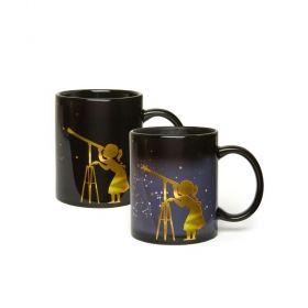 Чаша Kikkerland - Астроном, черна