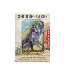 Карти за игра Kikkerland - Динозаври, 3D ефект