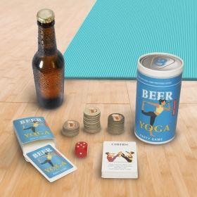 Парти игра Kikkerland - Beer Yoga