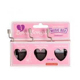 Комплект музикални кутийки Kikkerland - 3 love songs