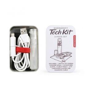 Комплект за почистване и кабел Kikkerland - Tech Kit