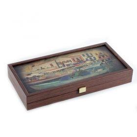 Табла за игра Manopoulos - Пристанище, 48x48 см