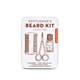 Комплект за брада Kikkerland - Gentlemand's Beard Kit