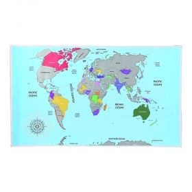 Скреч карта Out of the Blue - Световна карта