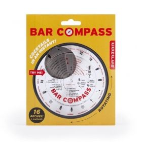Бар компас за коктейли Kikkerland - Bar Compass, 16 рецепти
