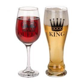 Комплект чаши Out of the Blue - Крал и Кралица