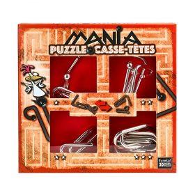 Логически пъзел 4 в 1 Eureka Mania - Червен сет