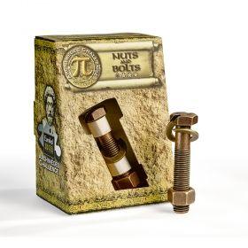 Логически пъзел Eureka Archimedes Challenge - Nuts & Bolts, метален