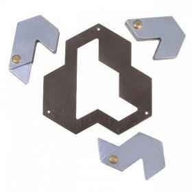 Метален логически пъзел Hanayama - Шестоъгълник