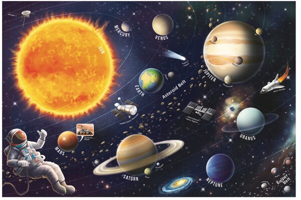 Пъзел Trefl от 70 части - Слънчева система, интересни факти