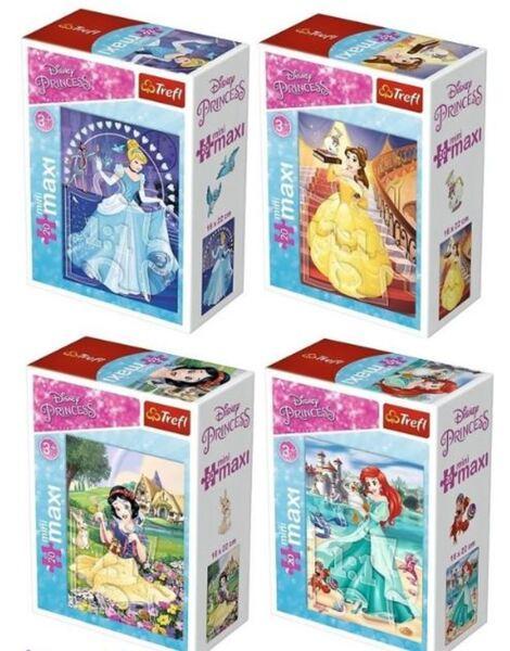 Мини пъзел Trefl от 20 макси части - В света на принцесите, асортимент