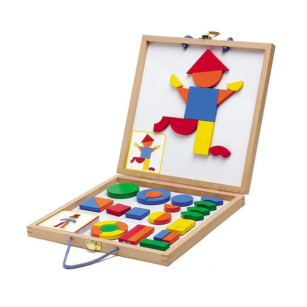 Djeco игра с дървени магнити Boxed set Geoform