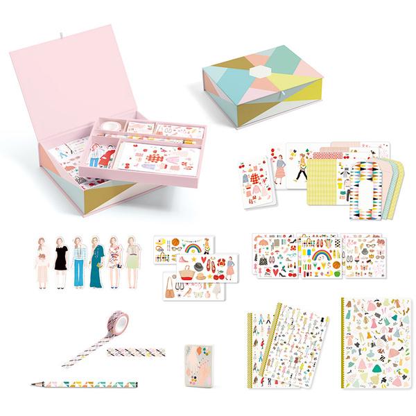 Djeco кутия с картички, пликове и бележници