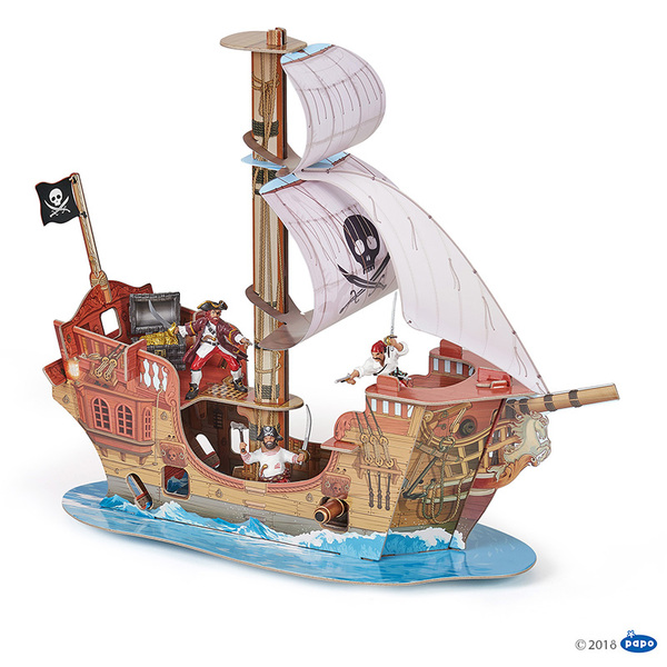 Papo 3D пиратски кораб от картон