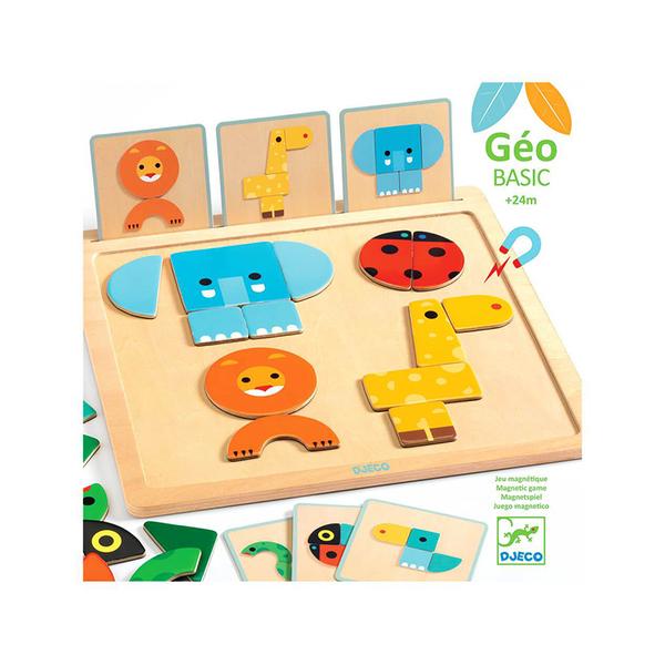 Djeco игра с магнитни карти GeoBasic