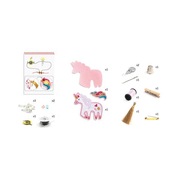 Djeco направи брошки с електричество Sweet unicorn
