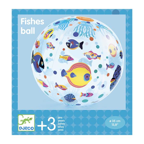 Djeco надуваема топка Fishes
