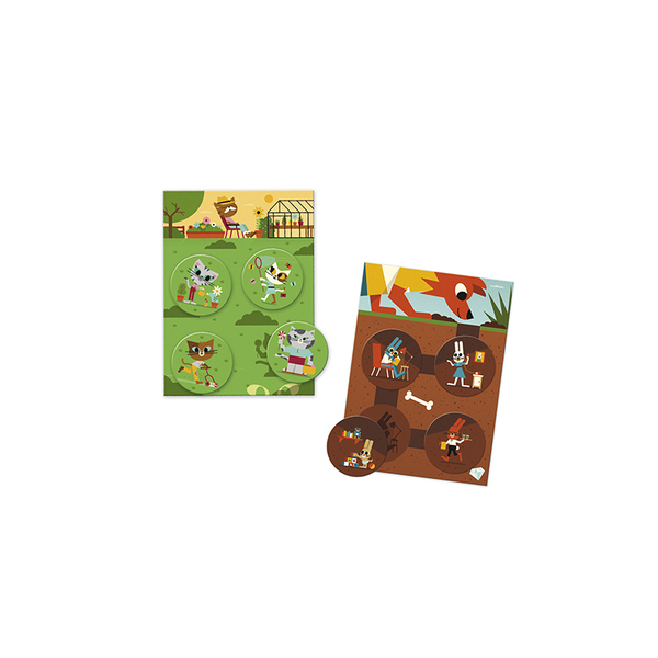 Djeco игра Loto funny animals