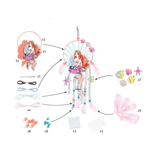Djeco комплект Направи капан за сънища Gentle mermaid